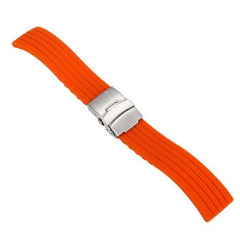 2017 Silicone Rubber Watch Strap Band Deployment Buckle Waterproof Watchband 16mm,18mm, 20mm, 22mm, 24mm